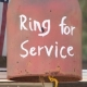 Words in bell say Ring For Service