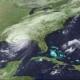 NASA Earth observatory image of Hurricane Katrina hitting New Orleans